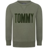 Tommy Hilfiger Tommy HilfigerBoys Green Branded Sweater