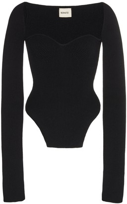 KHAITE Maddy Knit Sweater Black