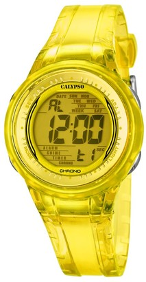 Calypso Womens Digital Quartz Watch with Plastic Strap K5688/6