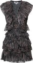 IRO stripe ruffle dress - women - Viscose - 36