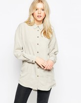 NATIVE YOUTH Oversized Tencel Shirt