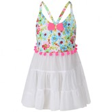 Pate De Sable Pate De SableWhite Floral Print Beach Dress