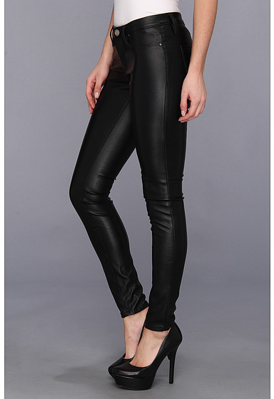 Blank NYC The Spray On Vegan Leather Skinny in Blacked Out