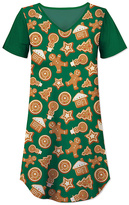 Green Holiday Cookie Nightgown - Women & Plus
