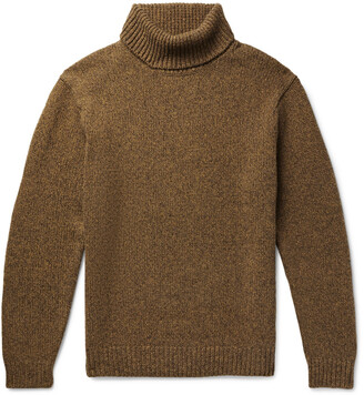Beams Melange Wool And Cashmere-Blend Rollneck Sweater