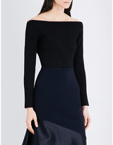 Dion Lee Off-the-shoulder ribbed knitted top