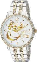 Disney Women's 'Princess Ariel' Quartz Metal and Alloy Casual Watch, Color: (Model: WDS000230)