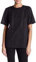 DKNY Short Sleeve Mixed Striped Shirt