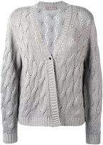 Cruciani cashmere cable knit cardigan - women - Cashmere - 40