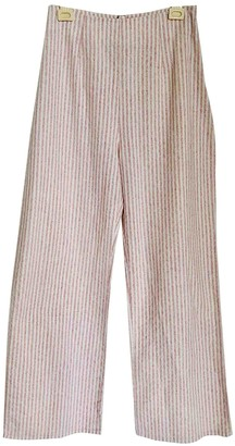 Flynn Skye Pink Cotton Trousers