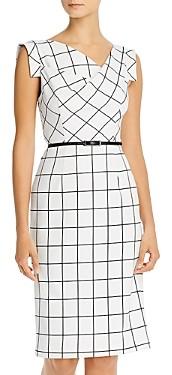 Black Halo Jackie O. Plaid Sheath Dress