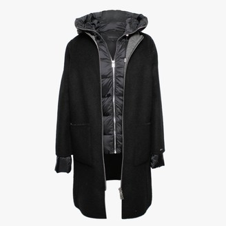 Oakwood Liliana Black Wool & Nylon Padded Longline Coat