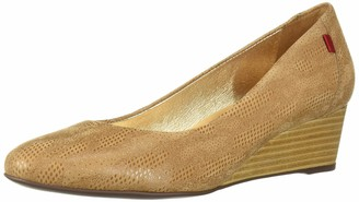 Marc Joseph New York Women's Womens Genuine Leather Made in Brazil Prospect Wedge Shoe