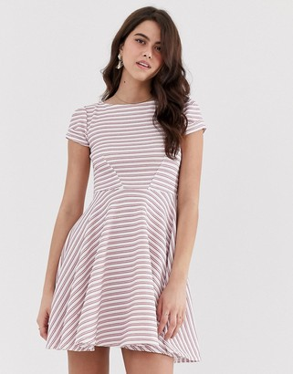 Closet London Closet short sleeve skater dress-Pink