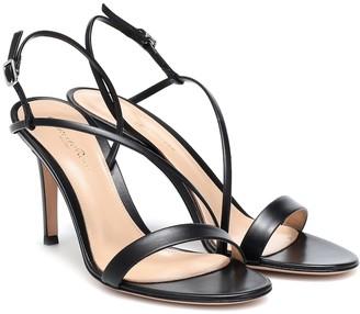 Gianvito Rossi Manhattan 85 leather sandals