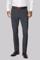 Moss Bros Wool Rich Machine Washable Grey Semi Plain Pants