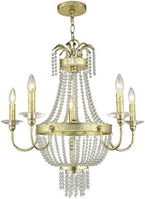 Livex Lighting Livex Valentina 5-Light Winter Gold Chandelier