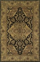 KAS Rugs 8735 Taj Palace Polynaise Area Rug, 5 by 8-Feet, Black/Coffee