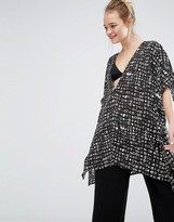 Monki Oversized Printed Blouse