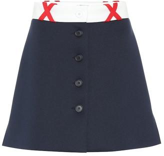 Miu Miu Stretch jersey miniskirt