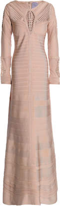 Herve Leger Crochet-trimmed Bandage Gown