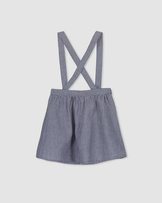 Milky Stripe Denim Skirt - Kids