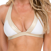 Luli Fama Band Triangle Top In White/ Gold (L502207)