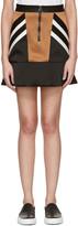 Neil Barrett Black Retro Modernist Peplum Miniskirt