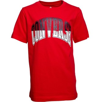 Converse Junior Boys Collegiate Splice T-Shirt University Red