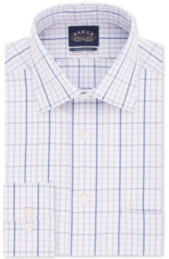 Eagle Men's Classic-Fit Windowpane Dress Shirt