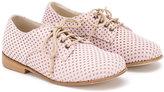 Pépé 'Poker Rosa' perforated lace-up shoes