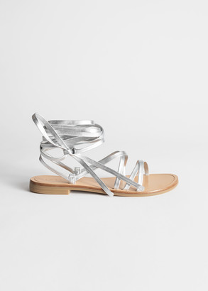 And other stories Criss Cross Leather Lace Up Sandals