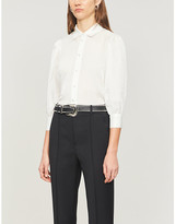 The Kooples Slim-fit cotton and silk-blend shirt