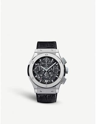 Hublot 525.nx.0170.lr classic aerofusion chronograph titanium leather watch