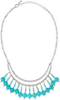Fragments for Neiman Marcus Hammered Turquoise Collar Necklace, Silver