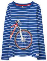 Joules Little Joule Boys' Raymond Glow Bike Stripe T-Shirt, Blue