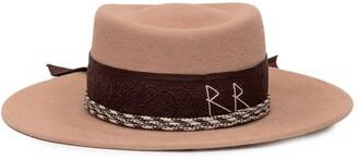 Ruslan Baginskiy Ribbon Embellished Fedora Hat