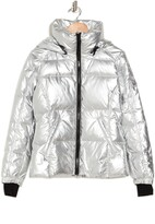 Thumbnail for your product : S13 Kylie Metallic Down Puffer Coat