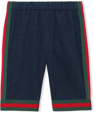 Gucci Kids Webbed Corduroy Trousers