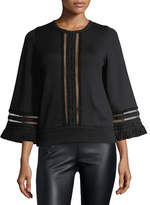 Andrew Gn Tulle-Trim Pullover Sweater