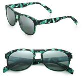 Italia Independent I-Gum Camouflage 55MM Round Sunglasses