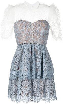 Self-Portrait Tiered Lace Dress