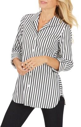 Foxcroft Pandora Essential Stripe Tunic Shirt