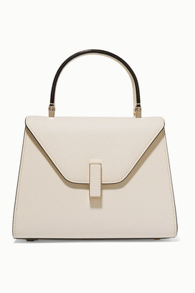 Valextra Iside Mini Textured-leather Tote - Cream
