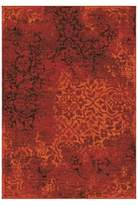 Orian Clayburn Overdye Area Rug Red