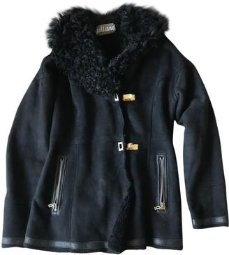 Galliano Black Shearling Coat for Women