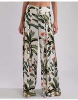 PatBO Tropical Print Wide Leg Pant
