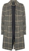 Dorothy Perkins Womens Grey and Camel 'POW' Check Coat- Multi