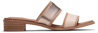 Toms Sunkiss Leather Metallic Women's Mariposa Sandals
