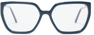 Marni Oversized Square Acetate Glasses - Womens - Black
